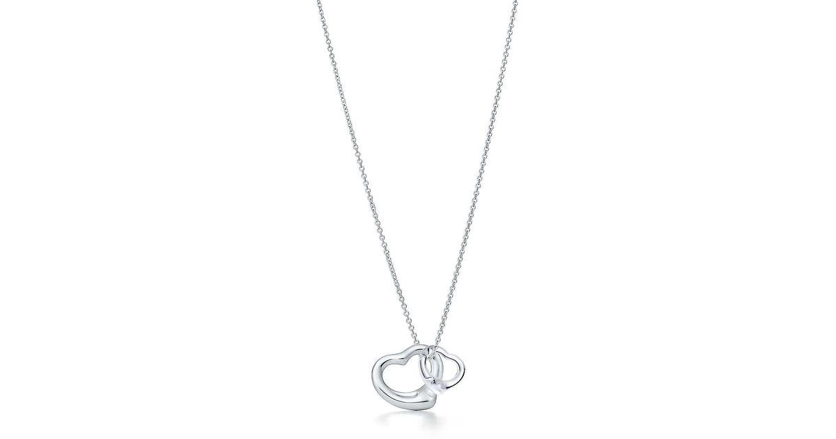 7d715bccd Tiffany & Co. Open Heart Pendant in Metallic - Lyst
