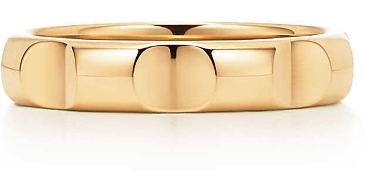 6f384d7d3 Tiffany & Co. Paloma's Groove Narrow Ring In 18k Gold, 4 Mm Wide - 6 in  Metallic - Lyst