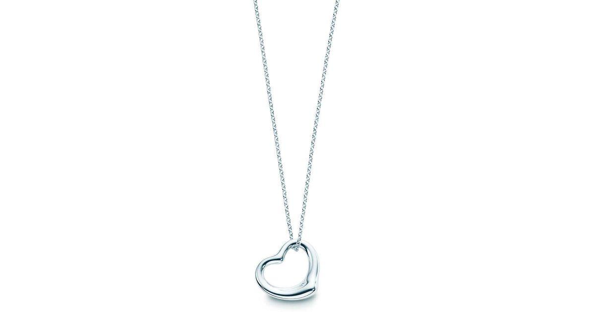 c66363391946e Tiffany & Co Metallic Elsa Peretti® Open Heart Pendant In Sterling Silver -  Size 11 Mm