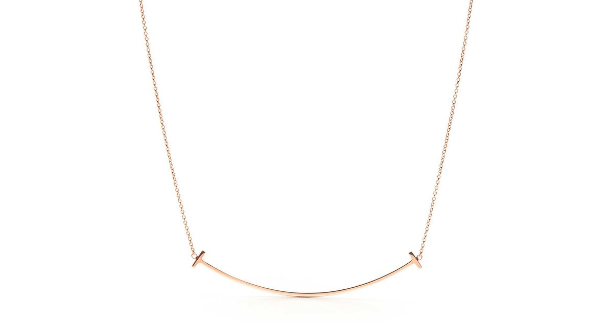 d8f9c951d Tiffany & Co. Tiffany T Smile Pendant In 18k Rose Gold in Pink - Lyst