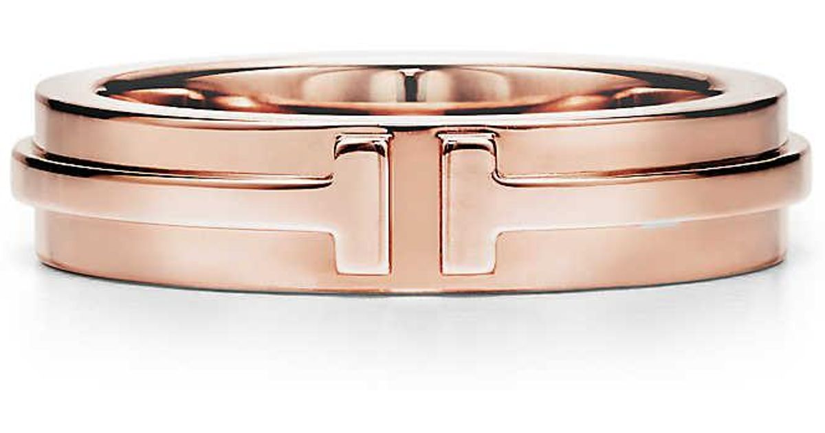Tiffany T Two ring in sterling silver and 18k rose gold - Size 11 1/2 Tiffany & Co. 29enyw