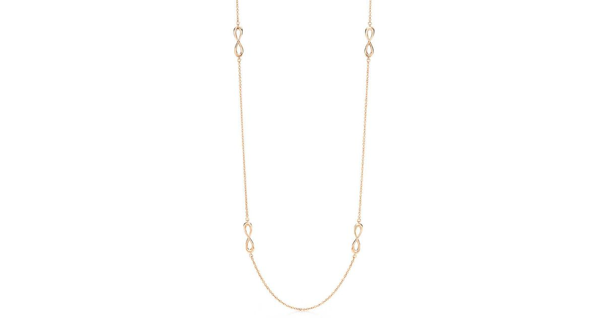 53fc4db10 Tiffany & Co. Tiffany Infinity Endless Necklace In 18k Rose Gold ...