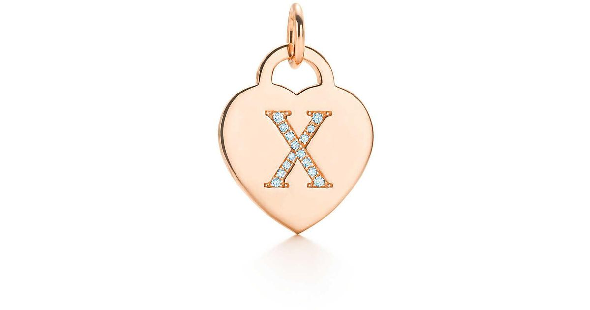 Alphabet heart tag letter M charm in 18k rose gold Letters A-Z available - Size M Tiffany & Co. OvdkPqqTCc