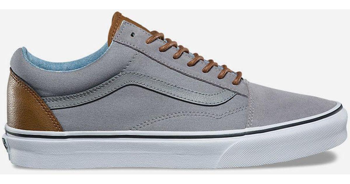 Lyst - Vans C l Old Skool Frost Grey   Acid Denim Mens Shoes in Gray for Men b2a56251b