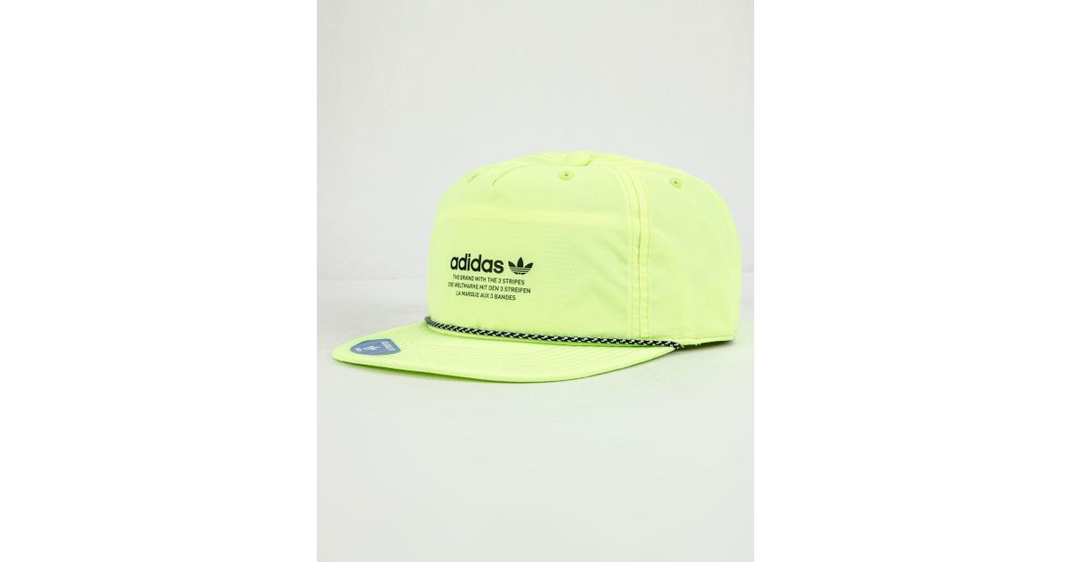 01b9bddeed2a4 adidas Originals Relaxed Logo Cap in Yellow for Men - Save 4% - Lyst