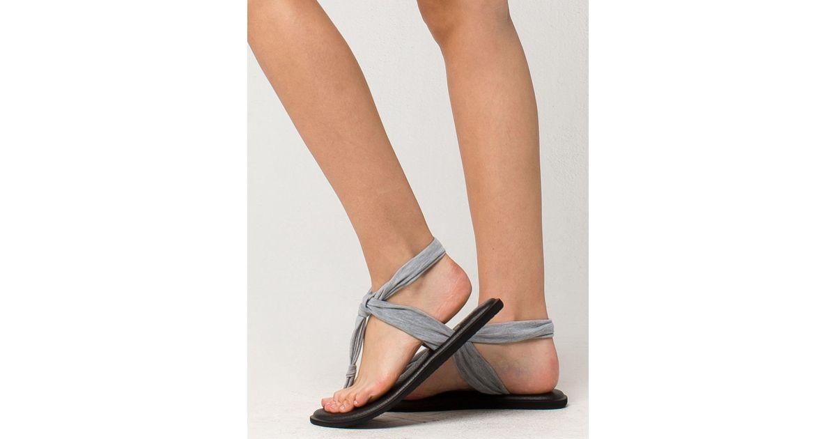 f599f2aef Lyst - Sanuk Yoga Sling Ella Womens Sandals in Gray