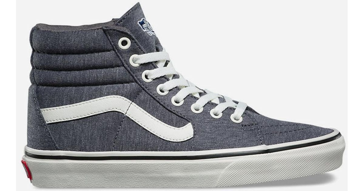 feafb5589b Lyst - Vans Jersey Sk8-hi Grey   Snow White Womens Shoes in Gray