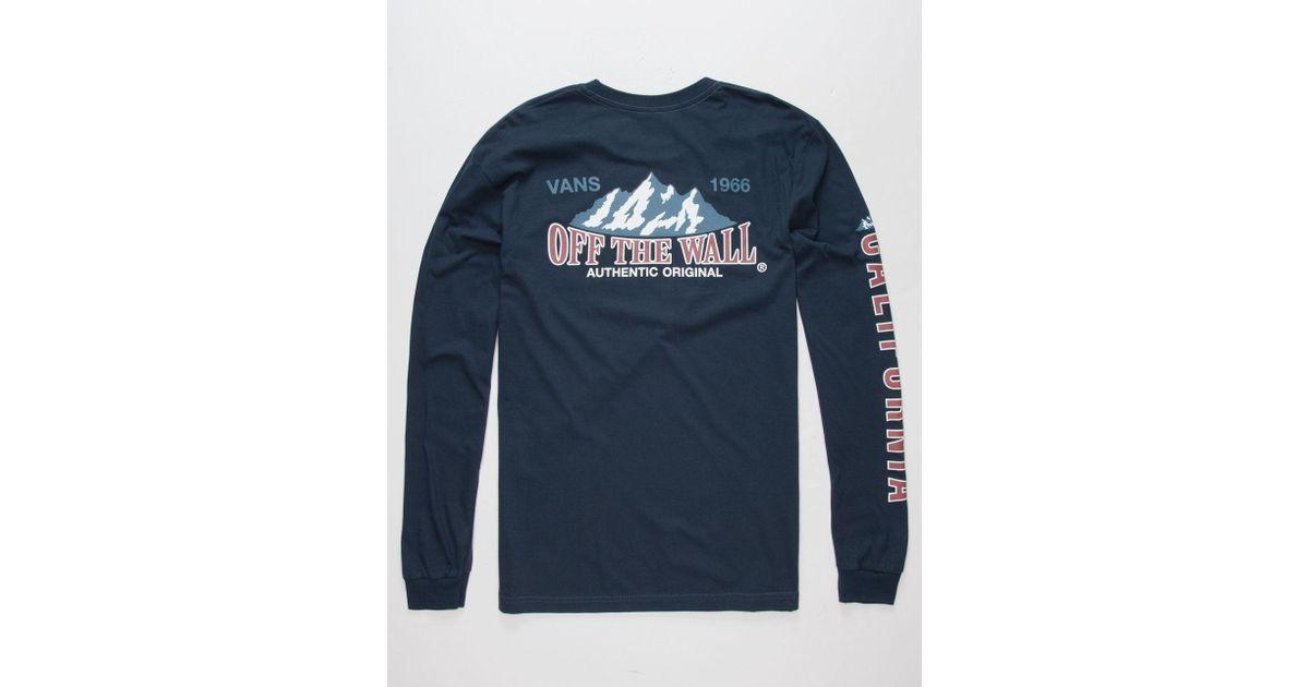 3d23a57e2151 Lyst - Vans Classic Summit Mens T-shirt in Blue for Men