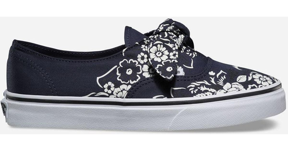 610dc6f3f369c3 Lyst - Vans Floral Bandana Authentic Knotted Parisian Night Womens Shoes in  Blue