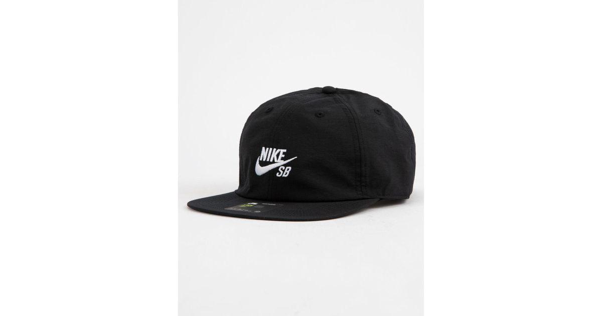 24b7332b Nike Dri-fit Heritage 86 Flat Black Combo Mens Strapback Hat in Black for  Men - Lyst