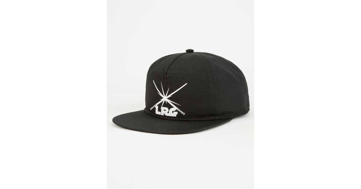 1596f350f54 ... real lyst lrg x star wars saber fight icon mens strapback hat in black  for men