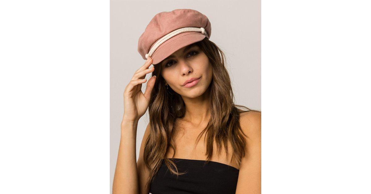 c6861e3b9 Brixton Pink Ashland Rose Fiddler Cap