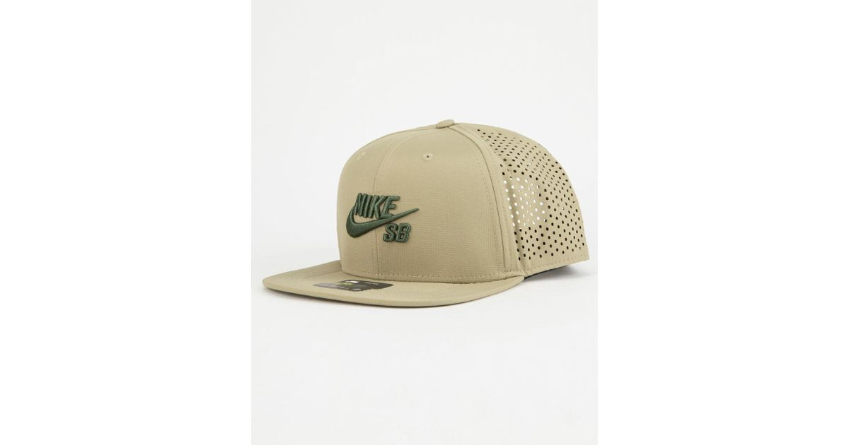 half off 85878 cb157 Lyst - Nike Sb Aero Pro Mens Snapback Hat in Green for Men