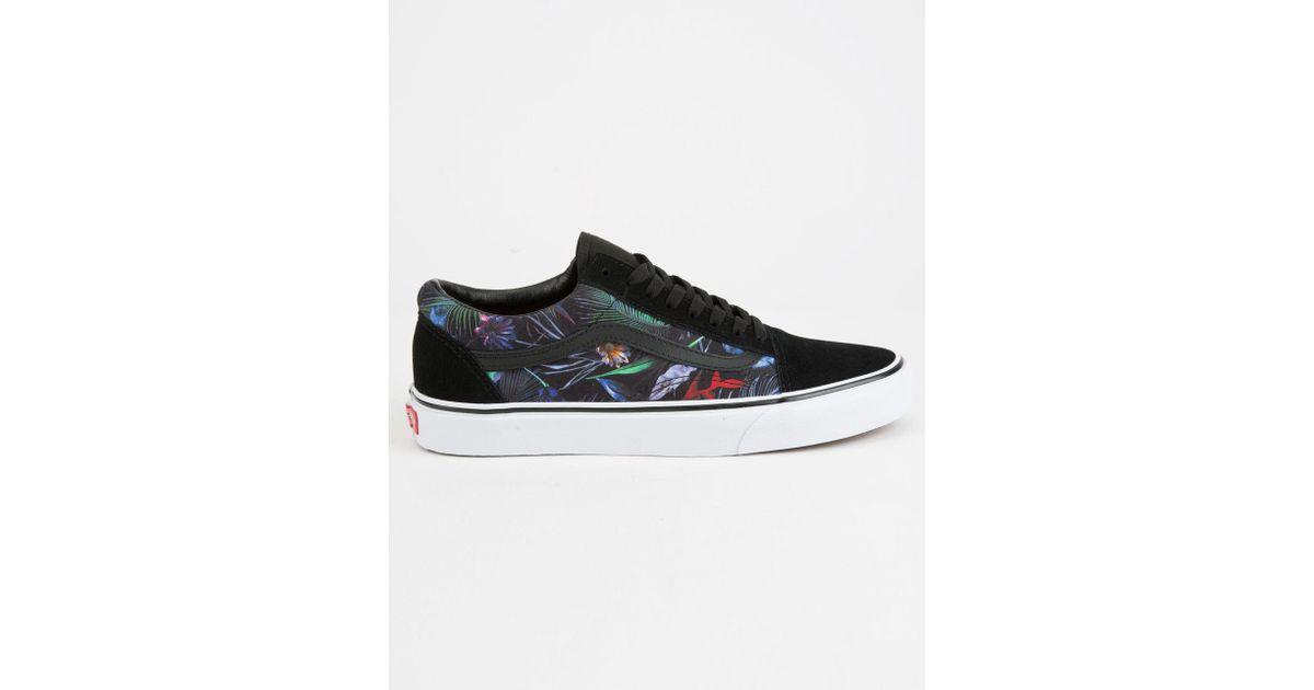 for for Old Lyst Black Skool Shoes Men Men Mens Vans in Black Floral 7TZwHBq 27055d2aa