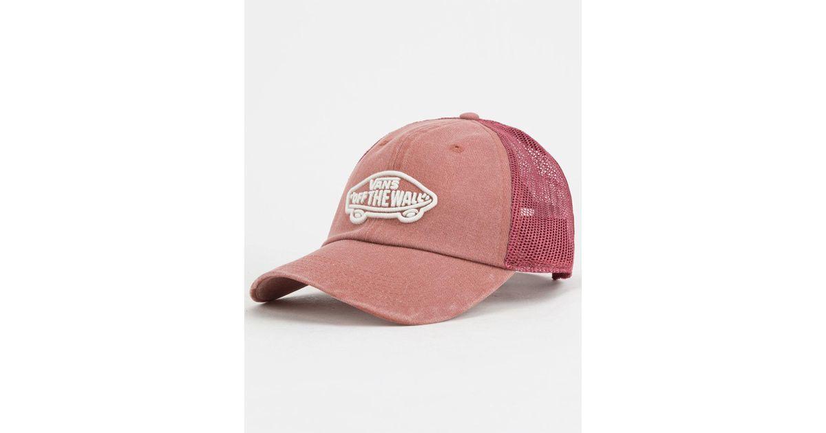 Lyst - Vans Acer Burgundy Womens Trucker Hat in Pink for Men c4fc2f6df9e