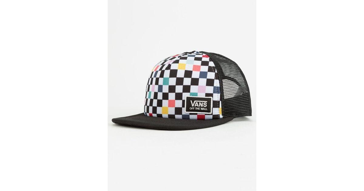 07b848ceb40ed Vans Beach Bound Party Checker Womens Trucker Hat in Black - Lyst