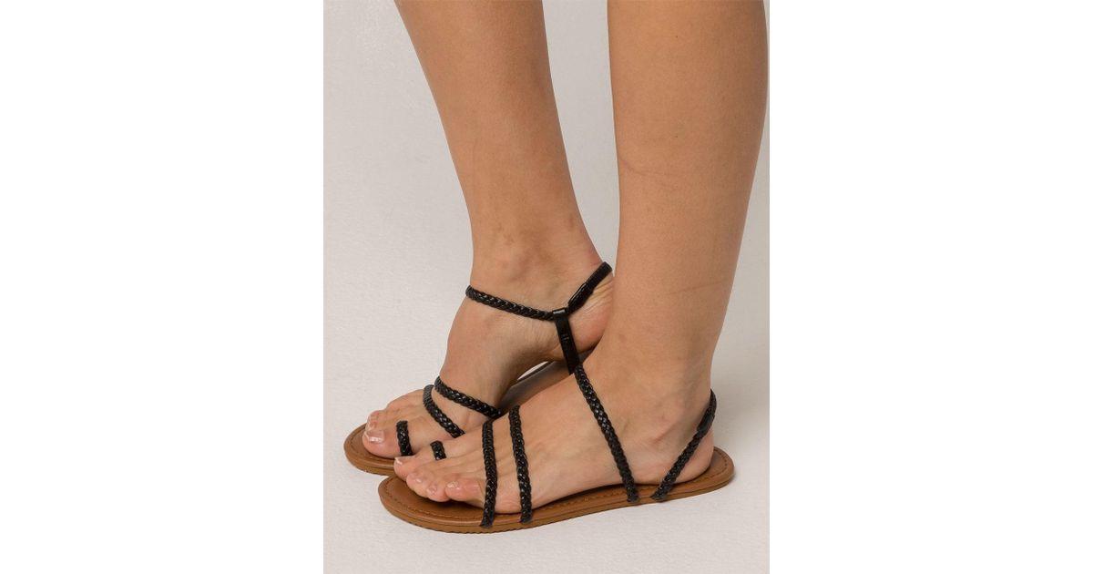 ea5527285b7c89 Lyst - Billabong Summer Breeze Black Womens Sandals in Black