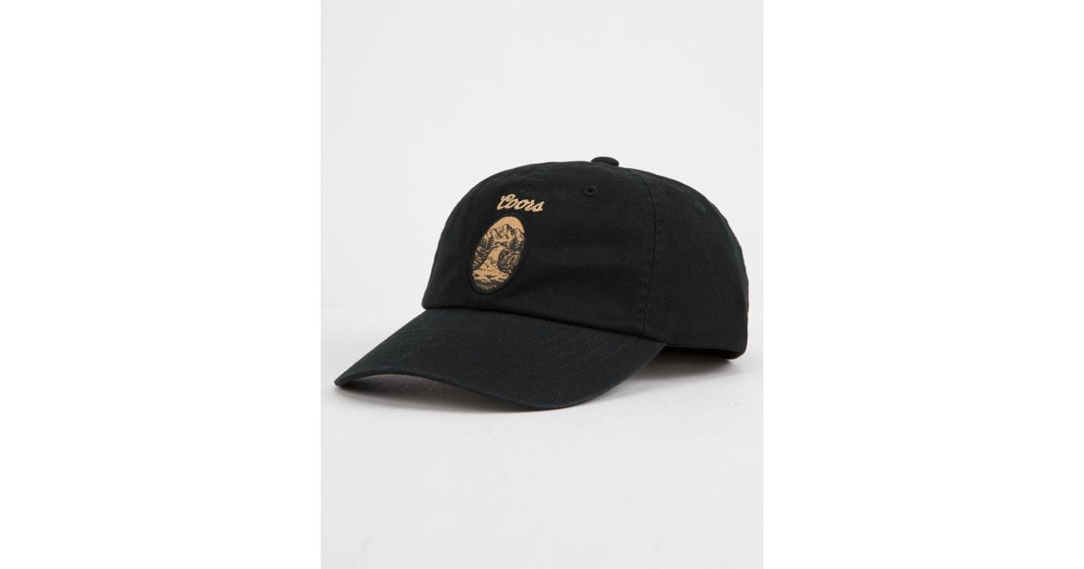 18f1a870d6479a Brixton X Coors Filtered Black Mens Strapback Hat in Black for Men - Lyst