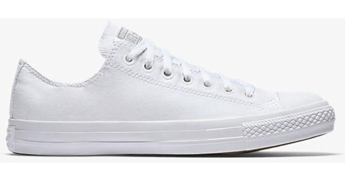 Lyst - Converse Chuck Taylor All Star Monochrome Low Shoes in White df417a27f