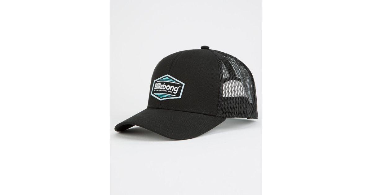 e802f35319e9d ... shop lyst billabong walled black mens trucker hat in black for men  cc2f1 59ff2