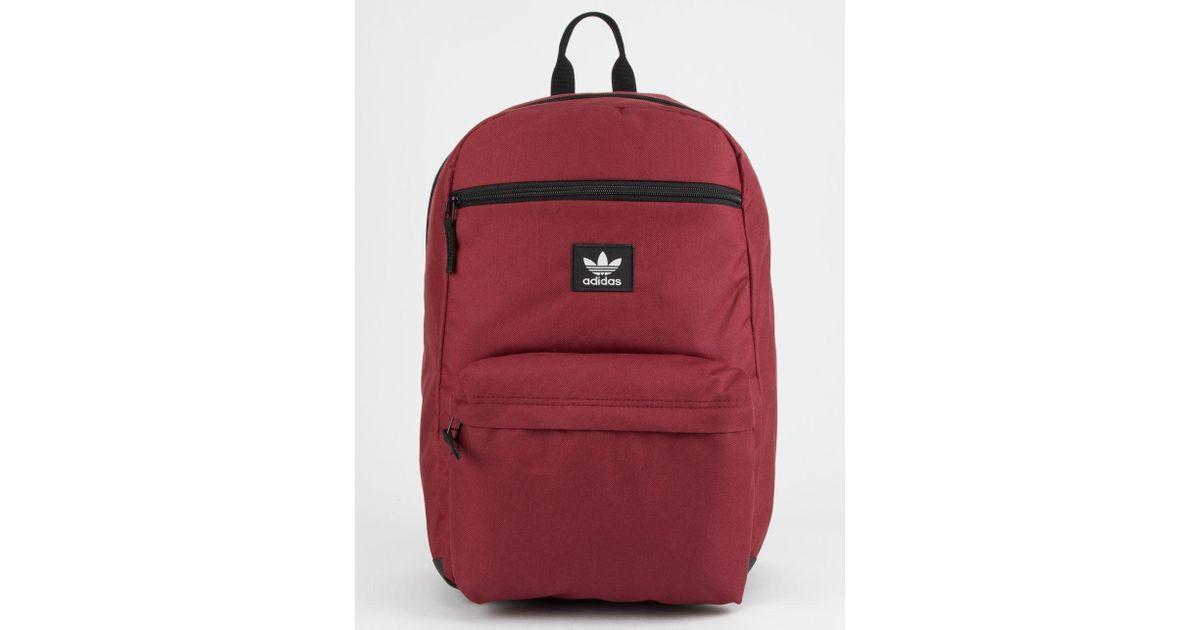 Lyst - adidas Originals National Burgundy Backpack in Red for Men 3e0ee56cbf3b7