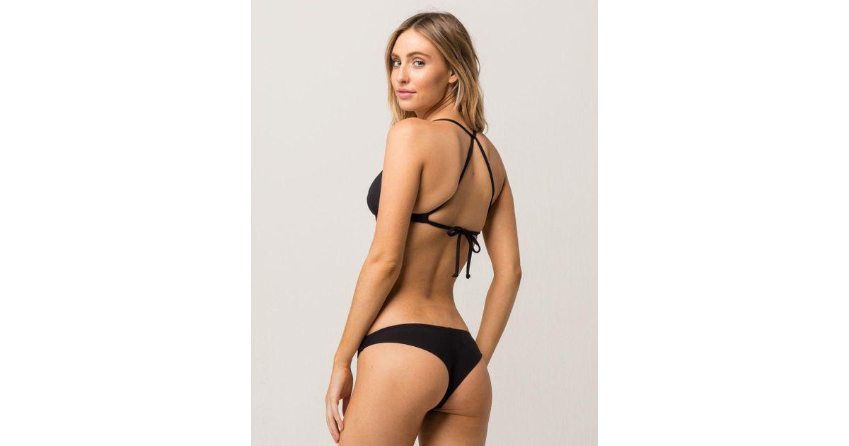 lyst billabong tanga cheeky bikini bottoms in black