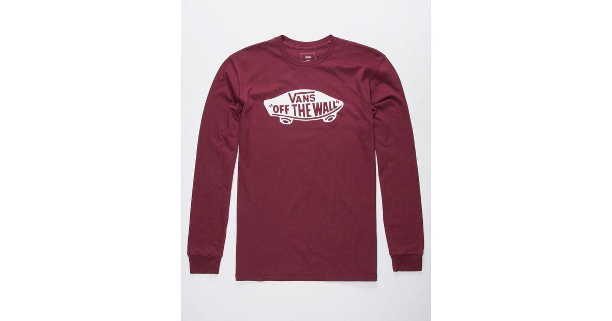 e32c472d17f8 Lyst - Vans Ot Long Sleeve Long Sleeve T-shirt in Red for Men
