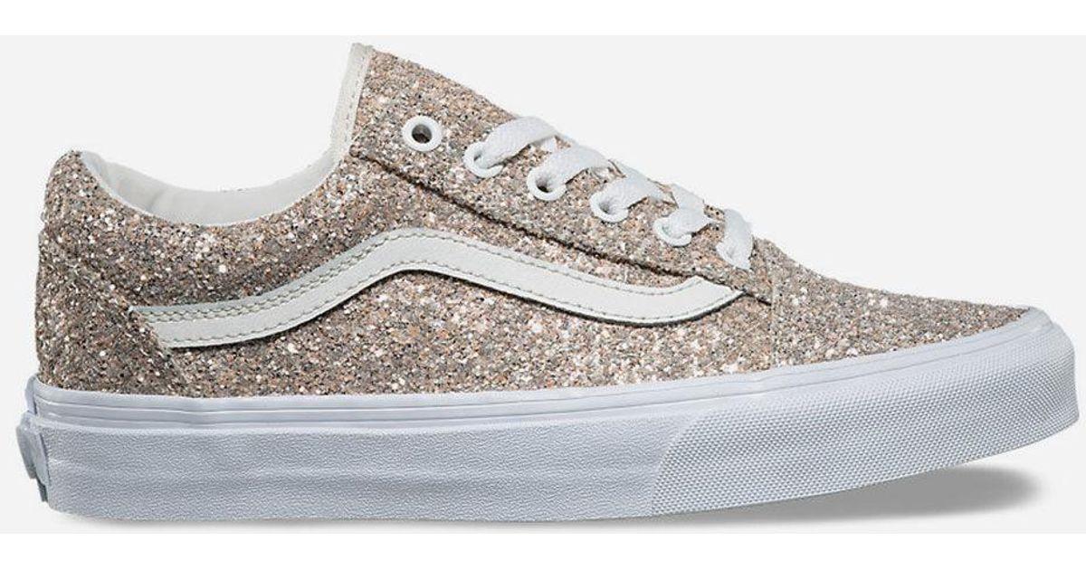 f3190b0f0cc27 Vans Metallic Chunky Glitter Old Skool Womens Shoes