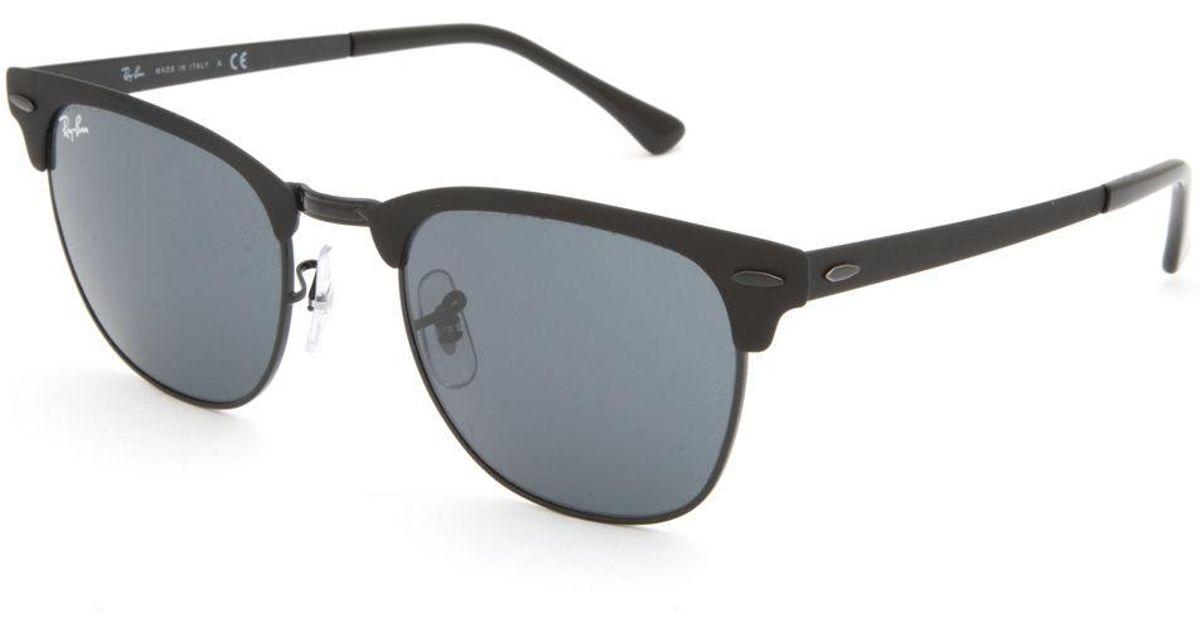 48a5c497fa0d Ray-Ban Clubmaster Metal Black & Black Gradient Sunglasses in Black - Lyst