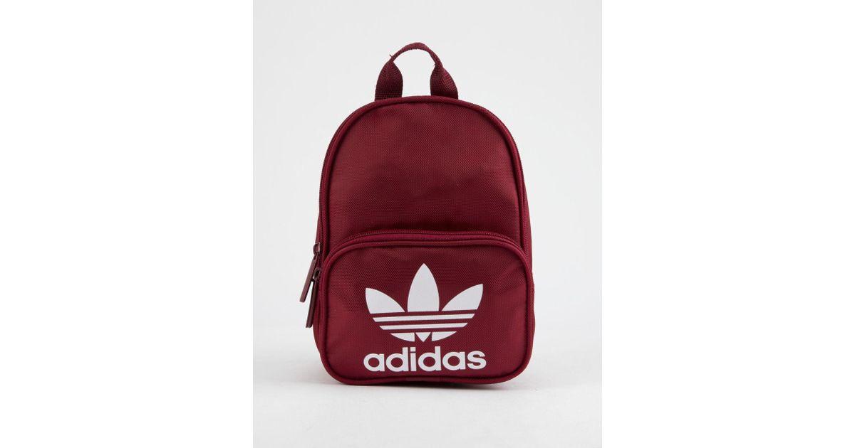 sale retailer 556d8 9680a adidas Originals Santiago Burgundy Mini Backpack in Red - Lyst