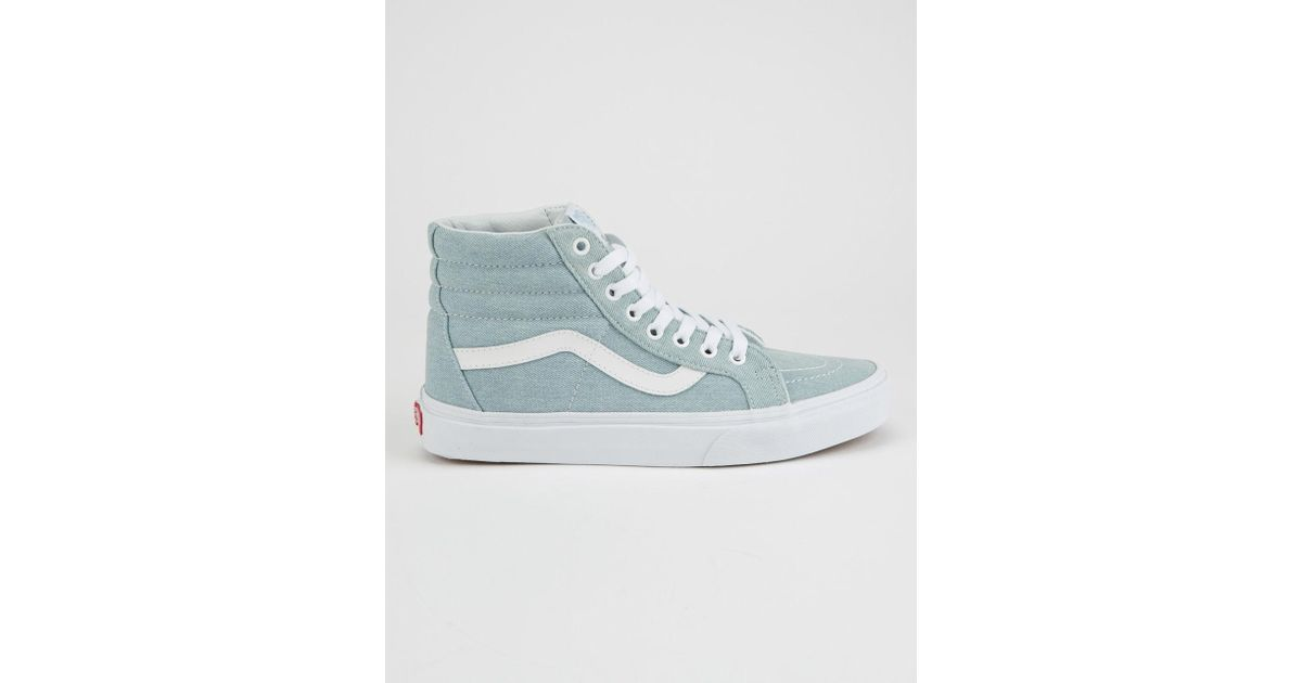 499df527b9 Vans Blue Sk8-hi Reissue Denim Womens Shoes