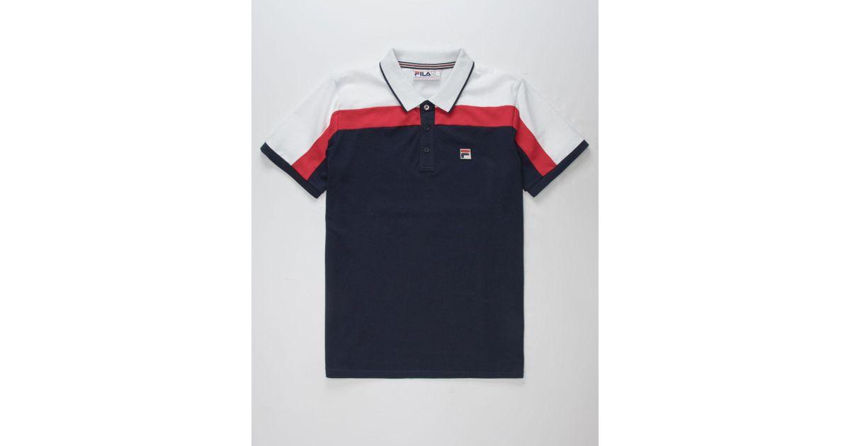 52da48a612 Lyst - Fila Spencer Mens Polo Shirt in Blue for Men