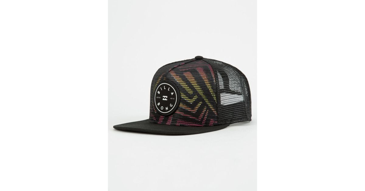 check out d08a1 95c5a italy stacked snapback hat stacked snapback hat 9a75b 76894  where to buy  lyst billabong rotor mens trucker hat in black for men 6f9a8 e9d6b