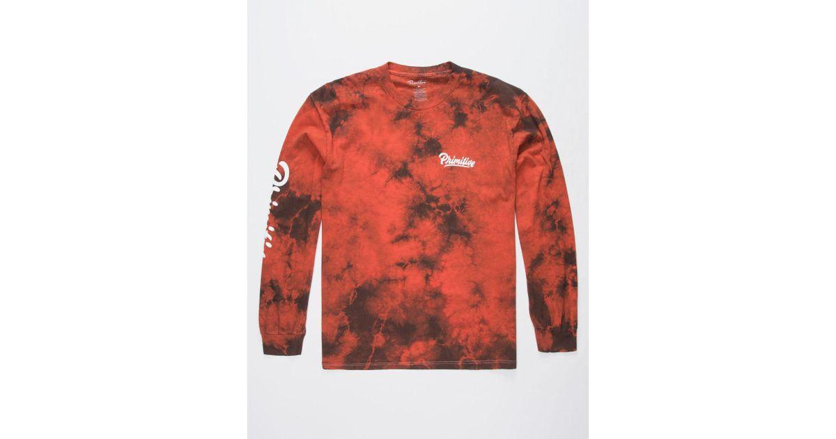 aabaafbdfad4ed Lyst - Primitive Campbell Burnt Orange Mens T-shirt in Orange for Men