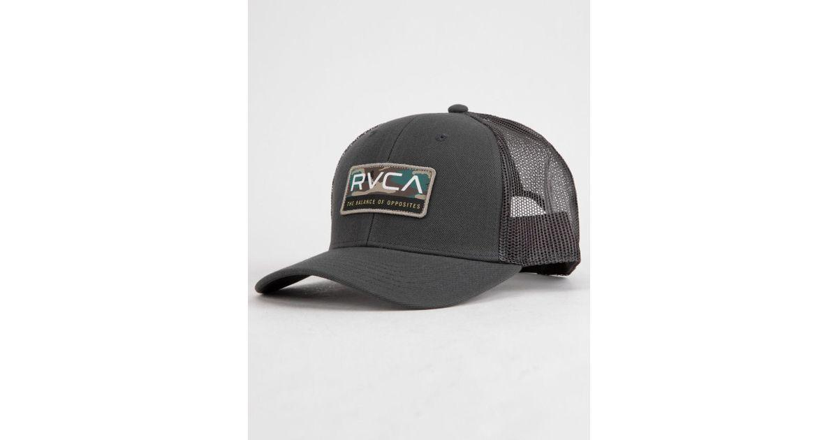 best cheap 4daa8 803bc Lyst - RVCA Reno Gray Mens Trucker Hat in Gray for Men
