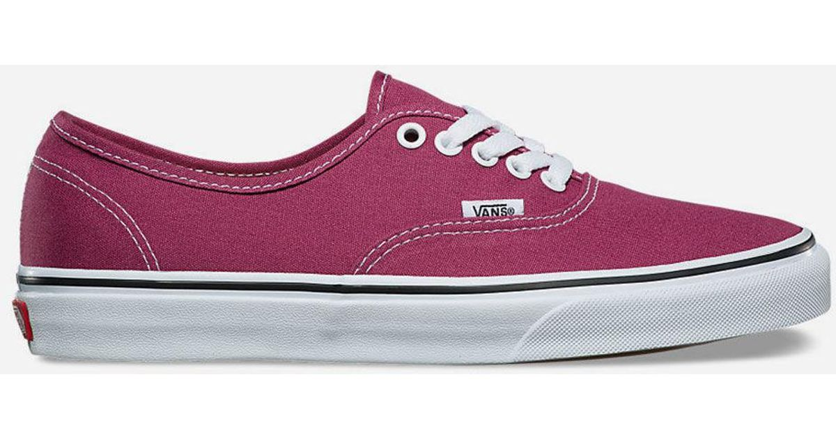 156efd89180a Vans Authentic Dry Rose   True White Womens Shoes - Lyst
