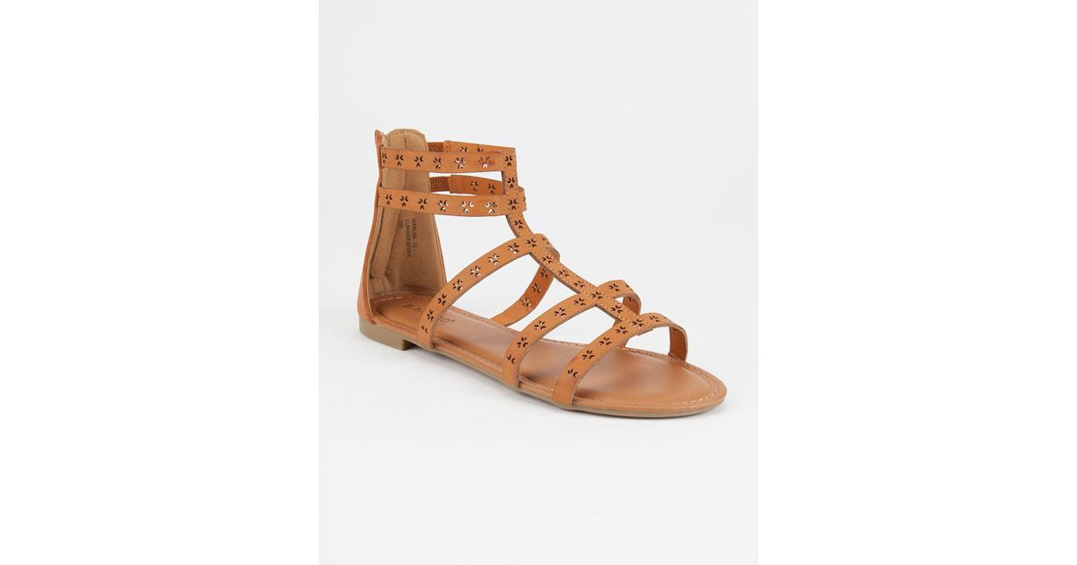 192d7d9913b BAMBOO Studded Lace Up Womens Gladiator Sandals