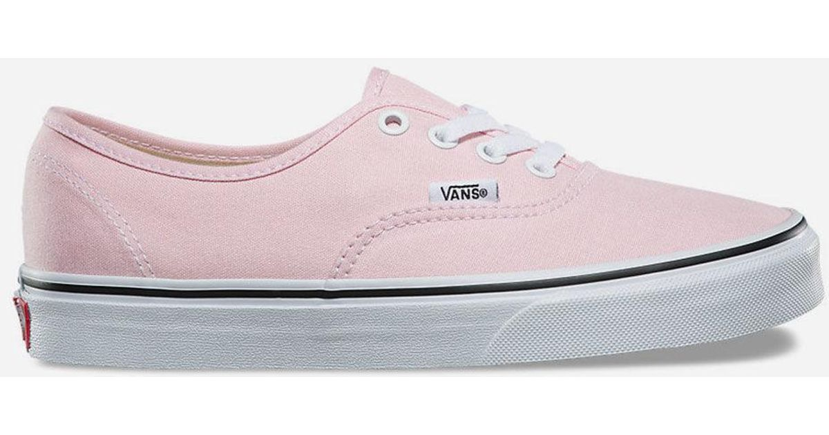 f42cb75136 Lyst - Vans Authentic Chalk Pink   True White Womens Shoes