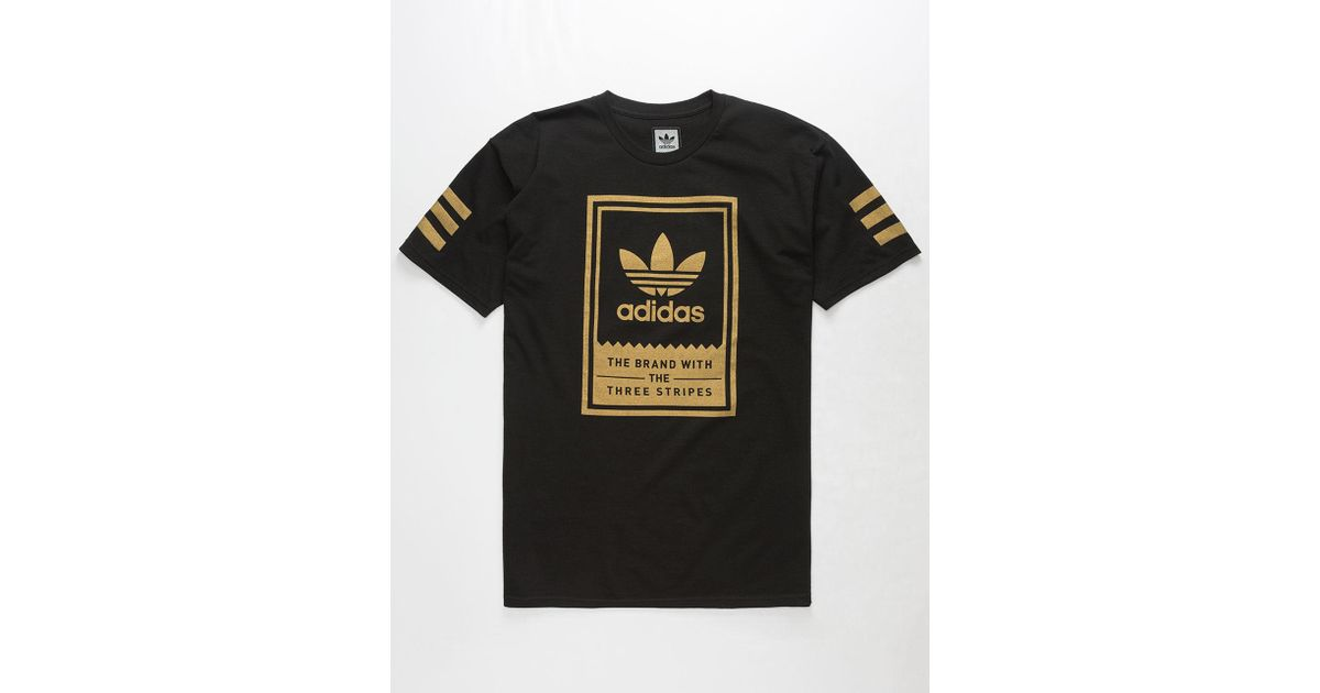 adidas t shirt black gold