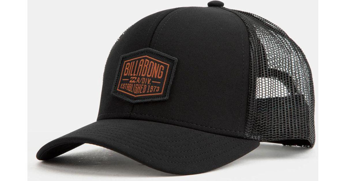 7e524e1bbdff2 ... sale lyst billabong a div mens trucker hat in black for men f4a88 b25e2