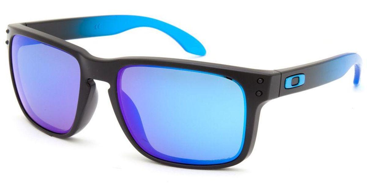 b02f2b0b9cfa5 ... sale lyst oakley holbrook prizm sapphire polarized sunglasses in blue  for men ab8e8 25e5f