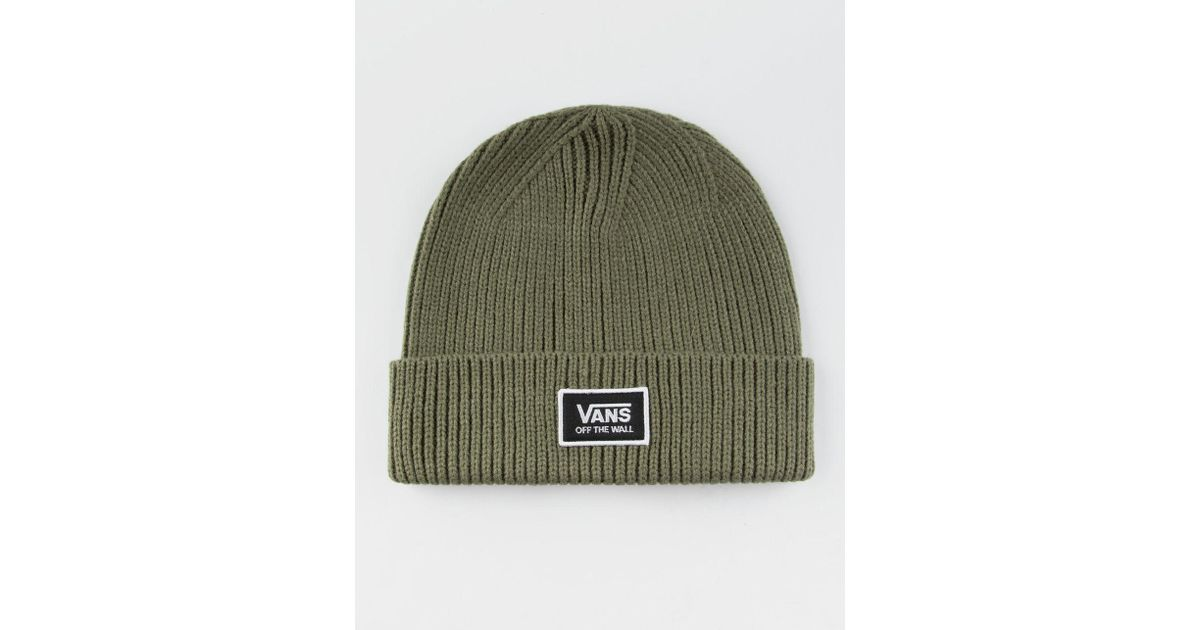 e010fae326 Lyst - Vans Falcon Olive Womens Beanie in Green