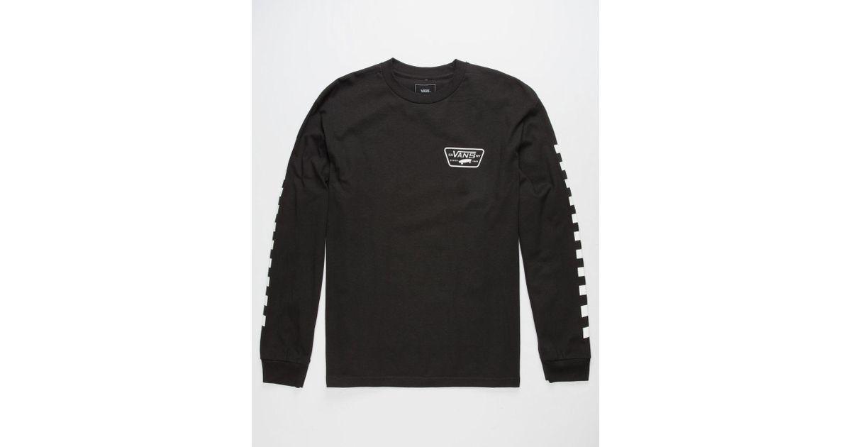1cbc6c0f Vans Black Full Patch Checkmate Mens T-shirt for men