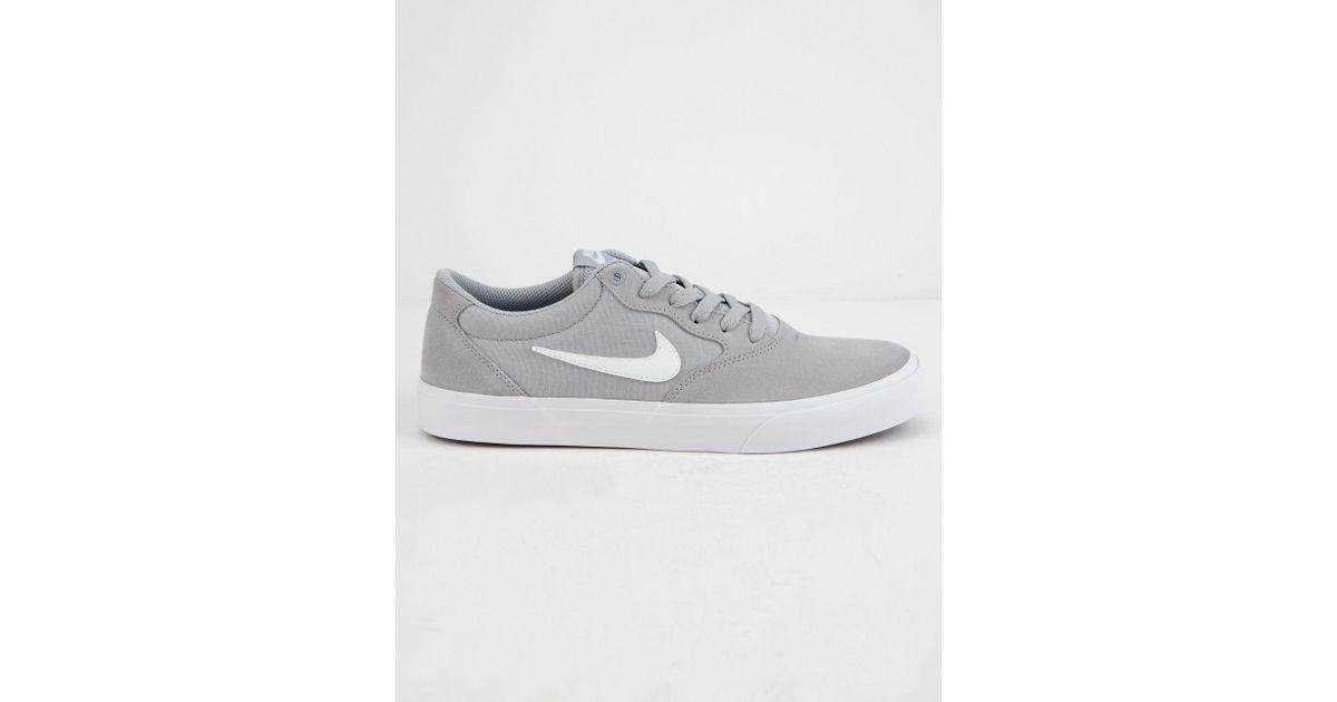 best website 116d0 31ea7 Nike Chron Slr Wolf Gray   White Shoes in White for Men - Lyst