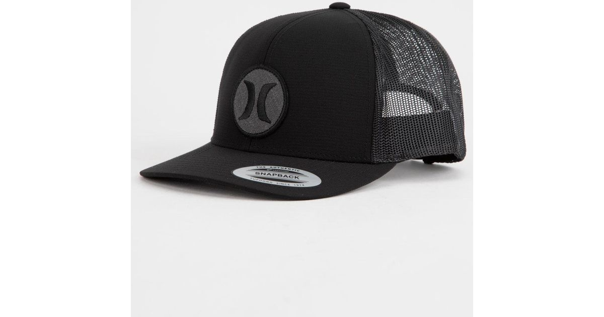 46d3b332bb10f Lyst - Hurley Texture Patch Mens Trucker Hat in Black for Men