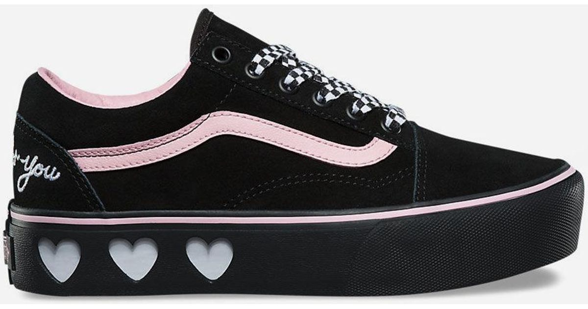 eae3f50b31e Lyst - Vans X Lazy Oaf Old Skool Platform Black Womens Shoes in Black