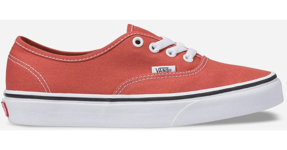 a4f4d378439450 Lyst - Vans Authentic Hot Sauce   True White Womens Shoes