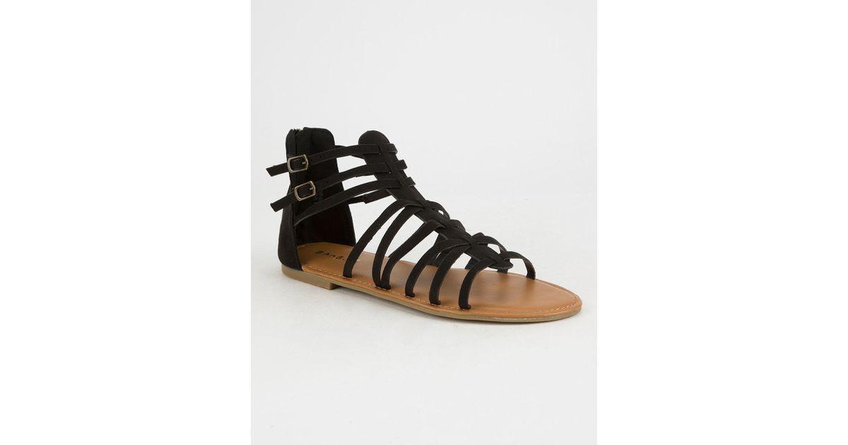 b41198324f9 Bamboo - Bamboo Women s Bliss 06M Open Toe Lace Up Gladiator Sandals -  Walmart.com