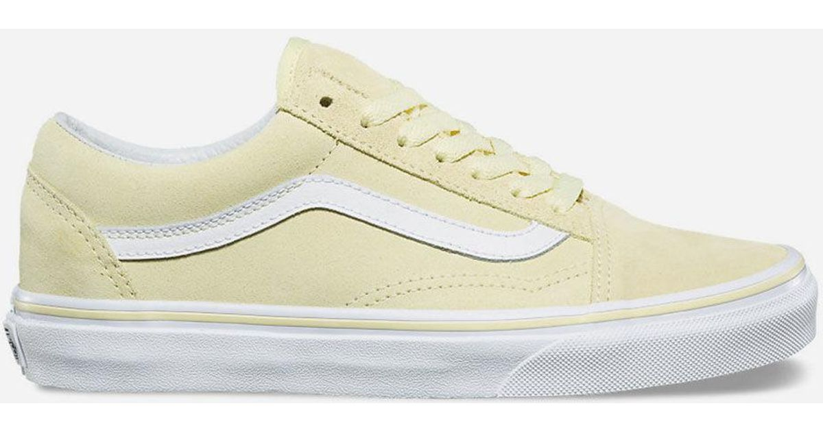 a9cf083fdb Lyst - Vans Old Skool Suede Tender Yellow   True White Womens Shoes in  Yellow - Save 53%