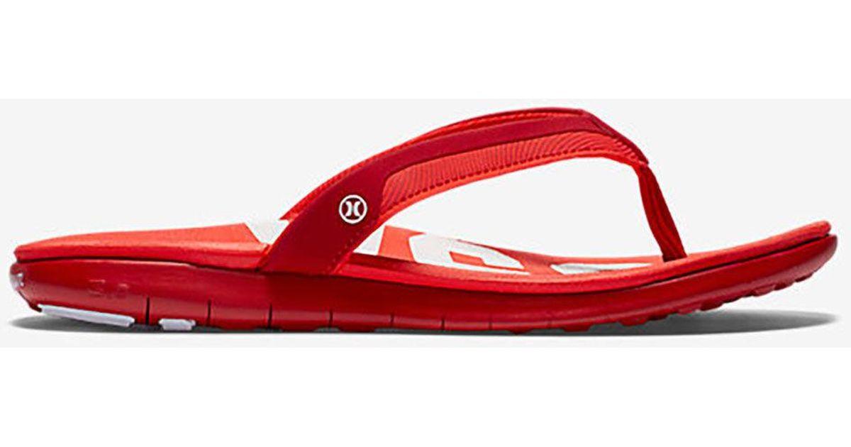 Hurley Red Sandals Phantom Free Womens Usa WDIEYH29